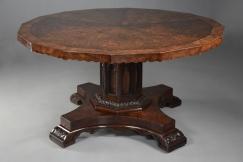 Gothic style pollard oak table