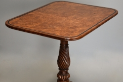 Regency burr oak table