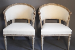 Pair of Barrel Back Chairs