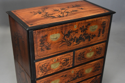 19thc camphor secretaire chest