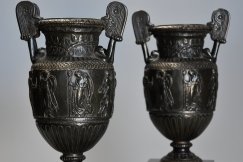Pair bronze 'Townley Vases'