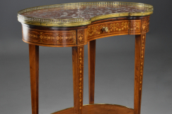 Kidney shape inlaid table