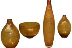 Set of four 1960 glasswares