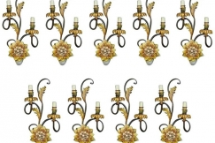 Set of Nine Sconces