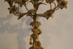 CANDELABRA GILDED BRONZE 19TH.