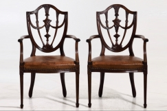 Gustavian style chairs, 19th C