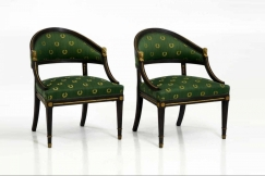 Ten Gustavian style chairs.