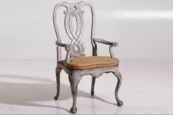 Armchairs and chairs, 19th C.