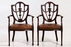Six Gustavian chairs, 19th C.