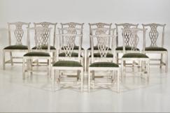 Gustavian armchairs, 19th C.