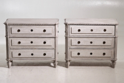 Gustavian style chests, 19th C