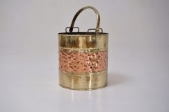 Antique brass bucket/bin