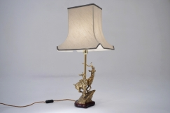 Brass deer lamp
