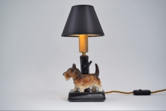Ceramic dog table lamp