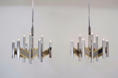 Pair Sciolari chandeliers