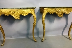 Italian Giltwood Consul Tables