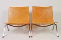 Poul Kjaerholm PK22 chairs