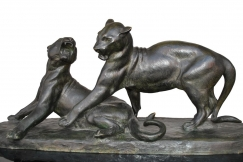 lionness bronze by L Riché