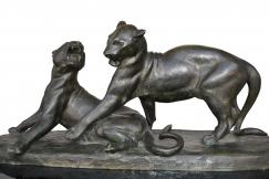 lionness bronze by L Riché