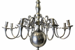 English Silver Chandelier