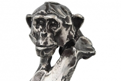 Monkey sculpture sterling