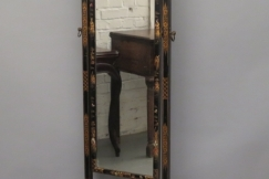 Cheval Mirror in Black Lacquer