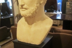 A Huge plaster bust of Hadrian