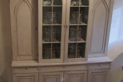 A painted breakfront bookcase