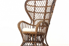 Gio Ponti wicker chair 50s