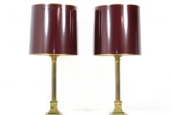 2 mid century brass lamps