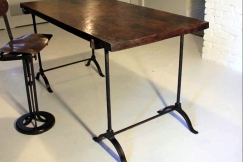 19thc Oak Trestle Table