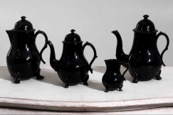 Teapots, bowl fajance, 18th C.