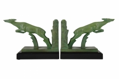 Art Deco deer bookends