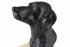 Art Deco bronze dog