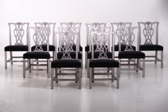 12 European chairs, 19th C.