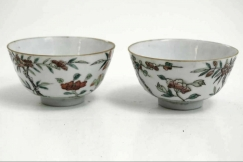 Chinese soups bowls, 18th C.