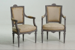 Pair of armchairs, 19th C.