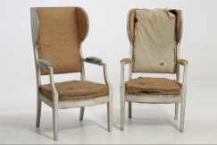 Swedish armchairs, 19th C.
