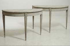 Demi-lune tables, 19th C.