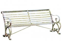 Regency Garden Iron Seat Bench