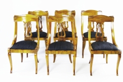Italian Biedermeier 6 Chairs