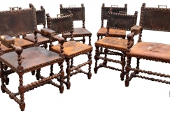 set of 8 baronial chairs
