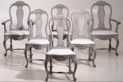 Gustavian chairs, 19th C