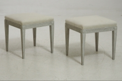 Gustavian stools, 19th C.