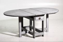 Demi-lune table, 19th C.
