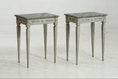 Gustavian side tables, 19th C.