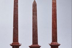 Red Marble Obelisks, 19th C