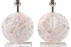 Disk Shape Rock Crystal Lamps