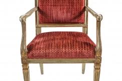 Parcel-Gilt Italian Armchair