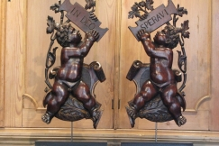 C19th Carved Walnut Putti